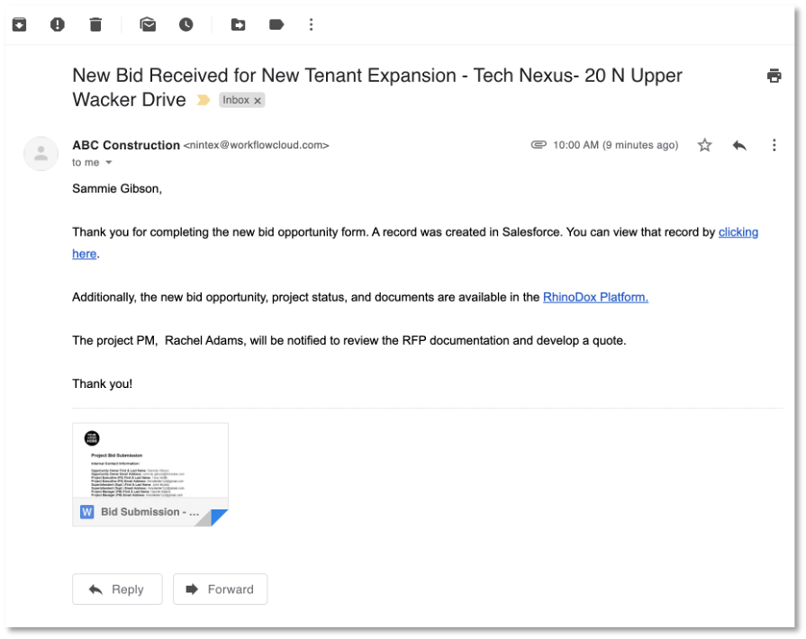 Dynamic Email Notifications