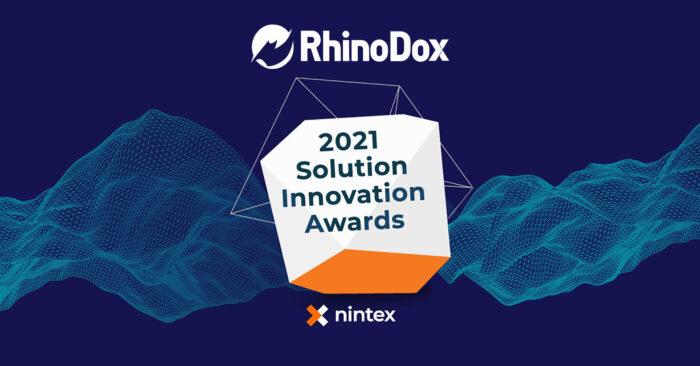 2021 Nintex Solution Innovation Award